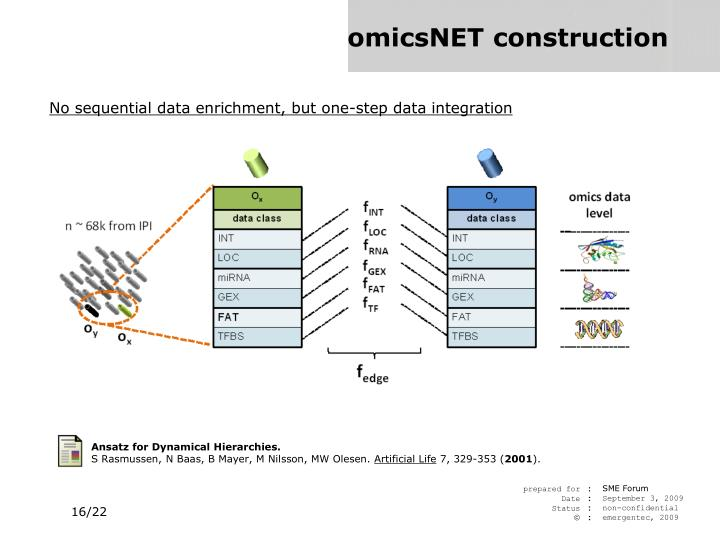 Ansatz for Dynamical Hierarchies.