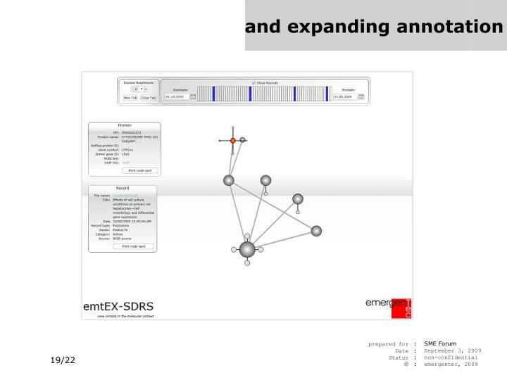 and expanding annotation