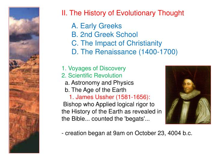 II. The History of Evolutionary Thought