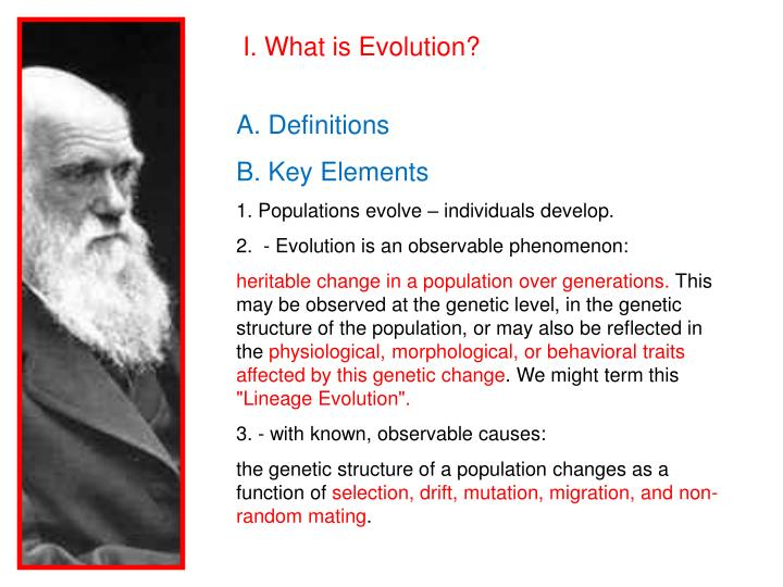 I. What is Evolution?