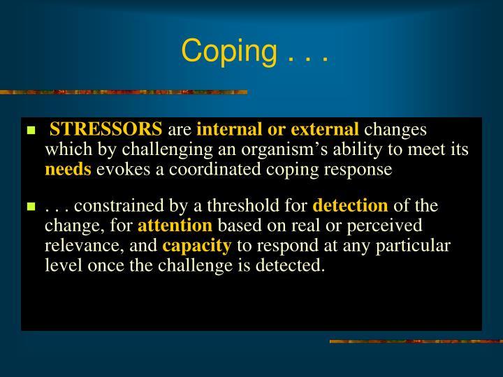 Coping . . .