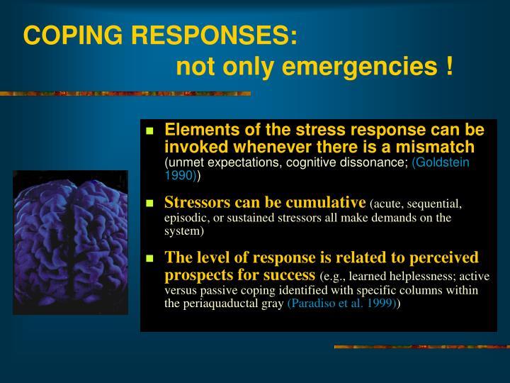 COPING RESPONSES: