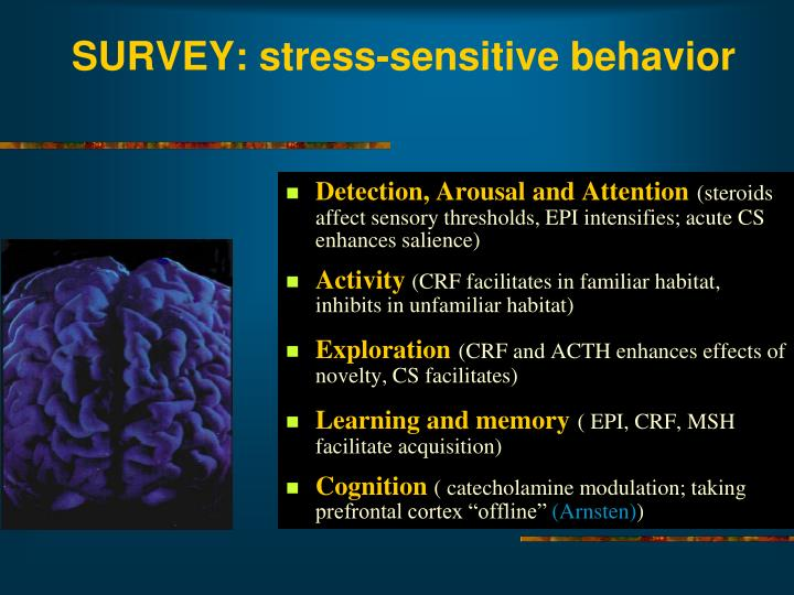 SURVEY: stress-sensitive behavior