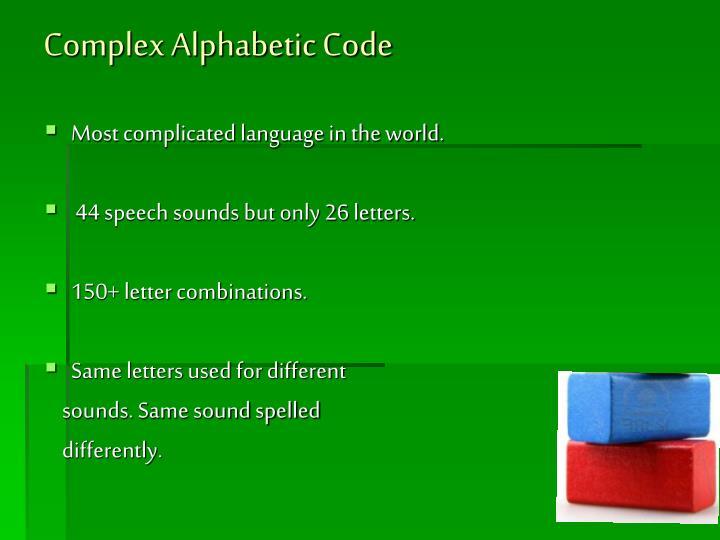 Complex Alphabetic Code