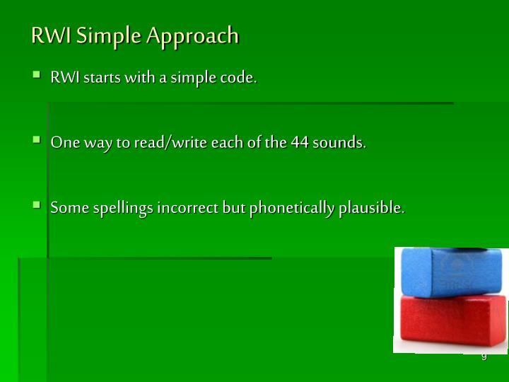 RWI Simple Approach