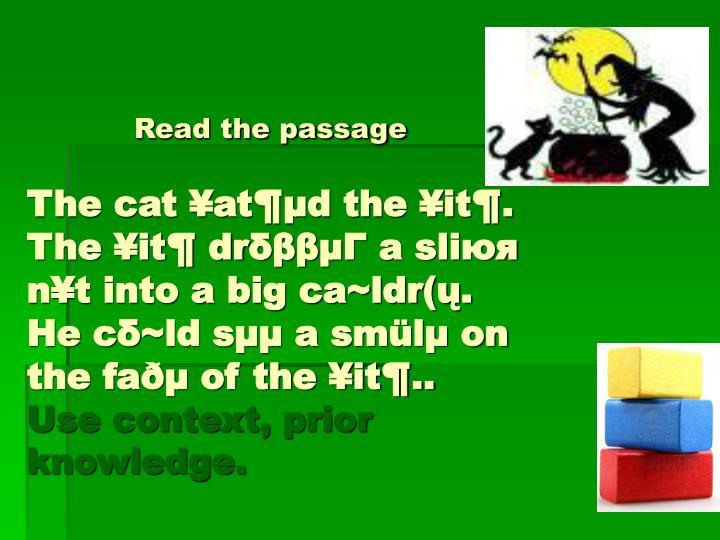 Read the passage