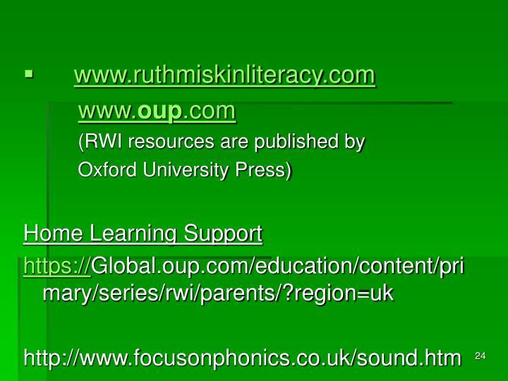 www.ruthmiskinliteracy.com