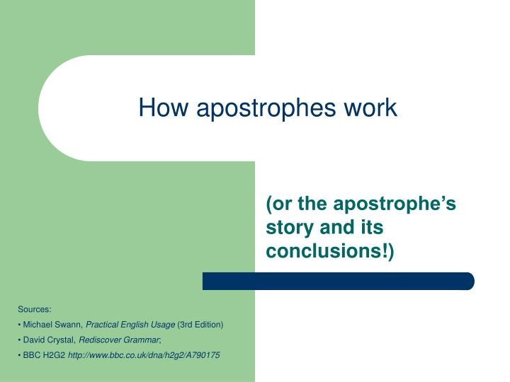 how apostrophes work