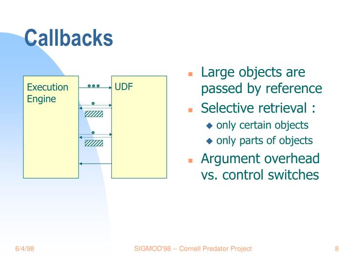 Large objects are passed by reference