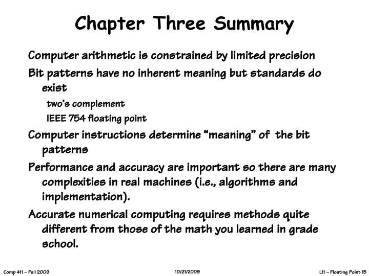 Chapter Three Summary