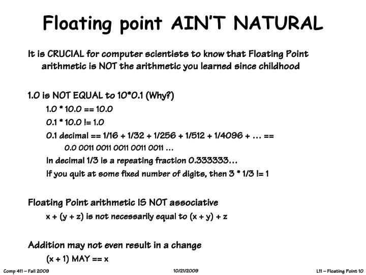 Floating point AIN'T NATURAL