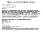 class assignment black scholes
