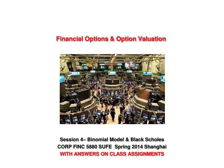 Financial options option valuation