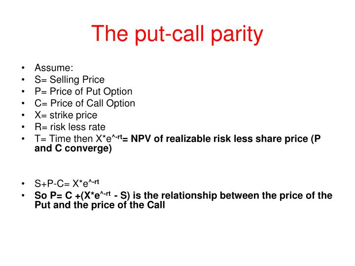 The put-call parity