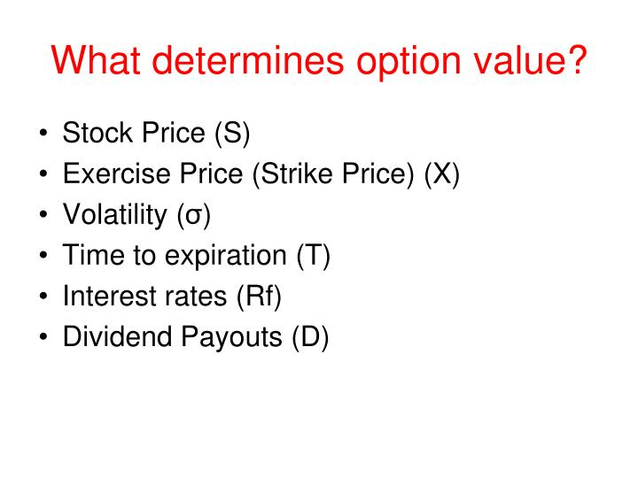 What determines option value?