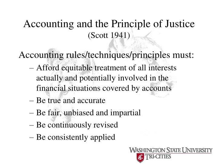 Accounting and the Principle of Justice