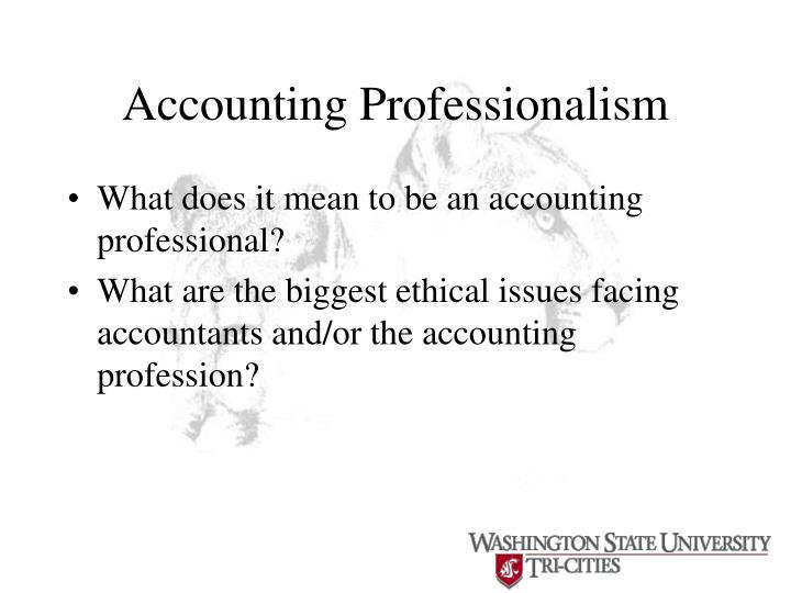 Accounting Professionalism