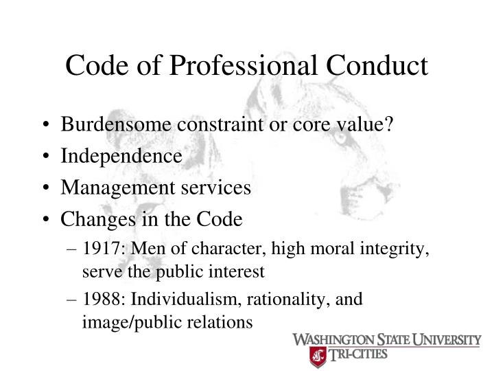 Code of Professional Conduct