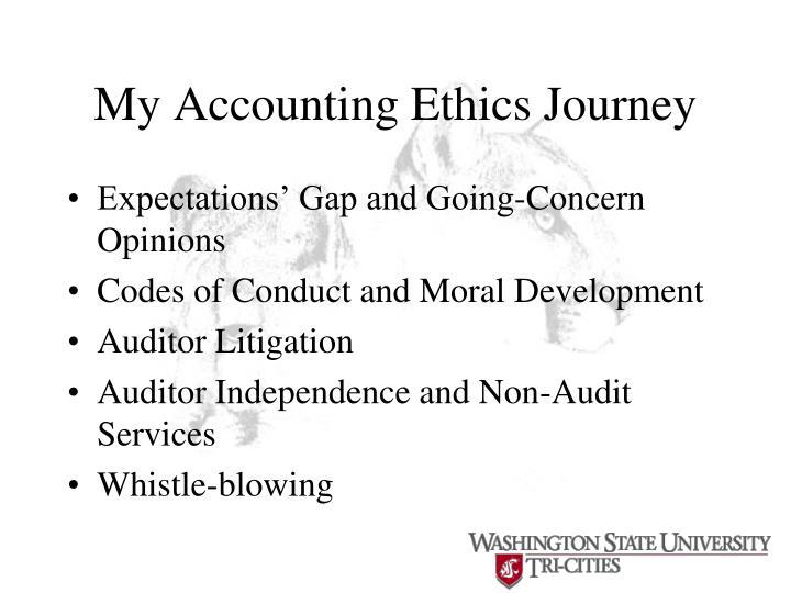 My Accounting Ethics Journey