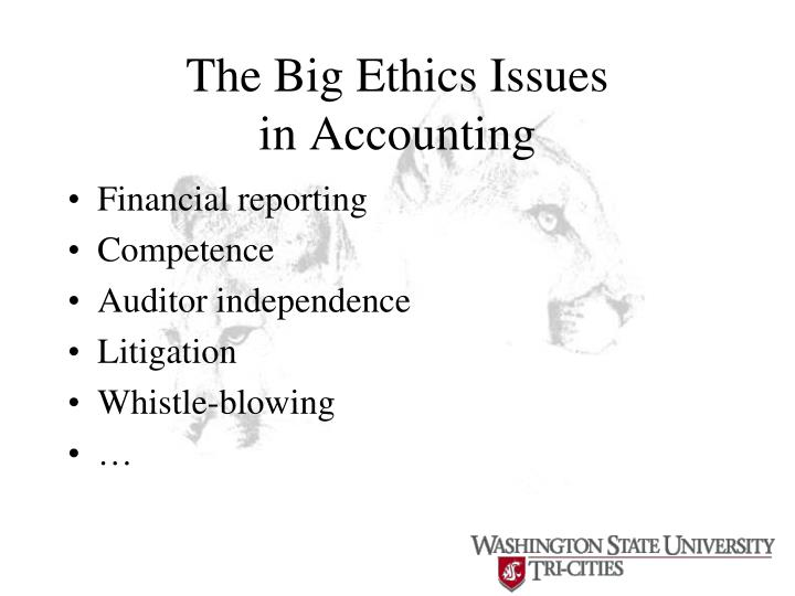 The Big Ethics Issues