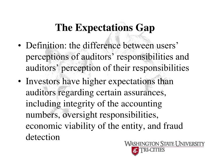The Expectations Gap