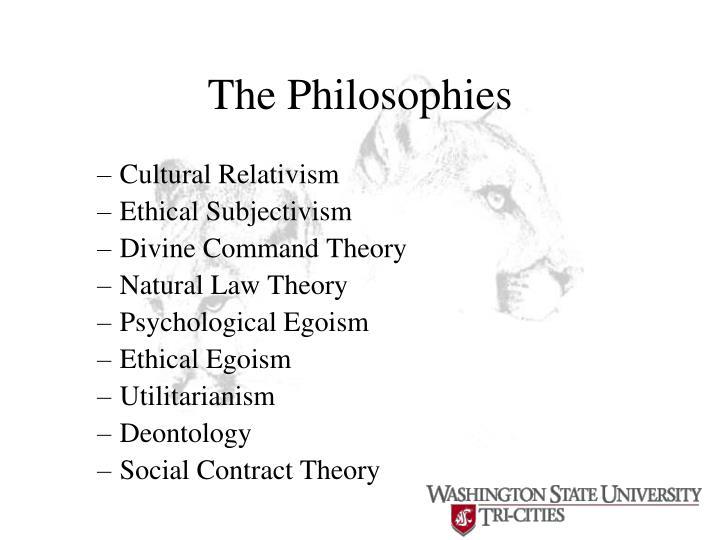 The Philosophies