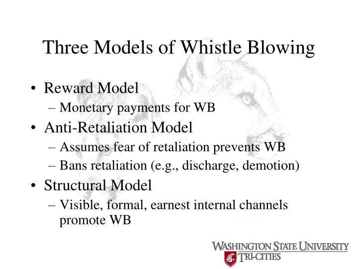 Three Models of Whistle Blowing