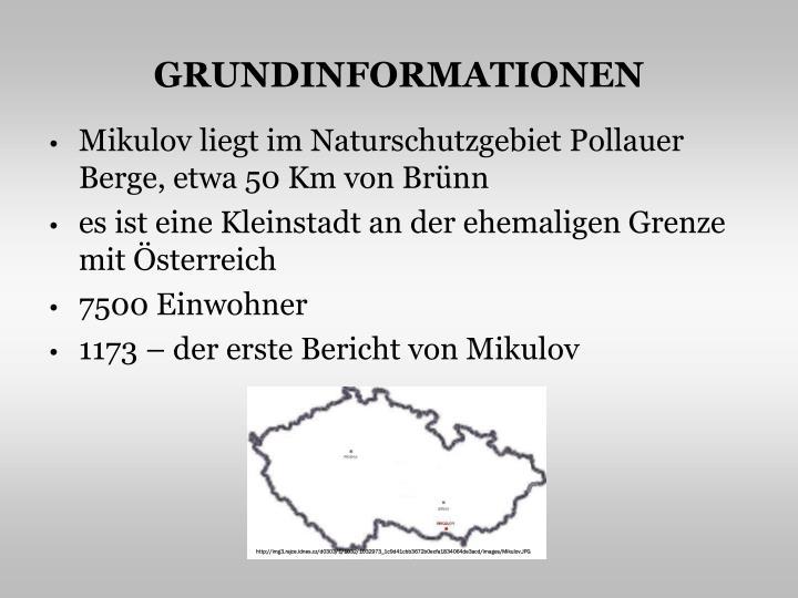 GRUNDINFORMATIONEN