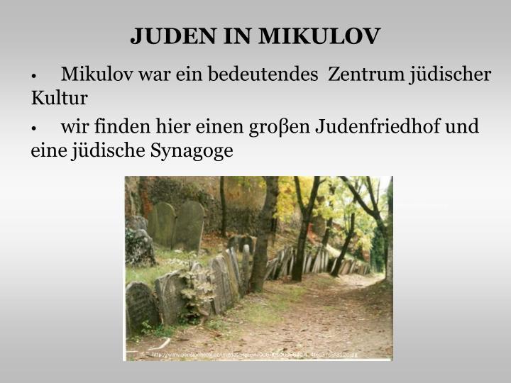 JUDEN IN MIKULOV