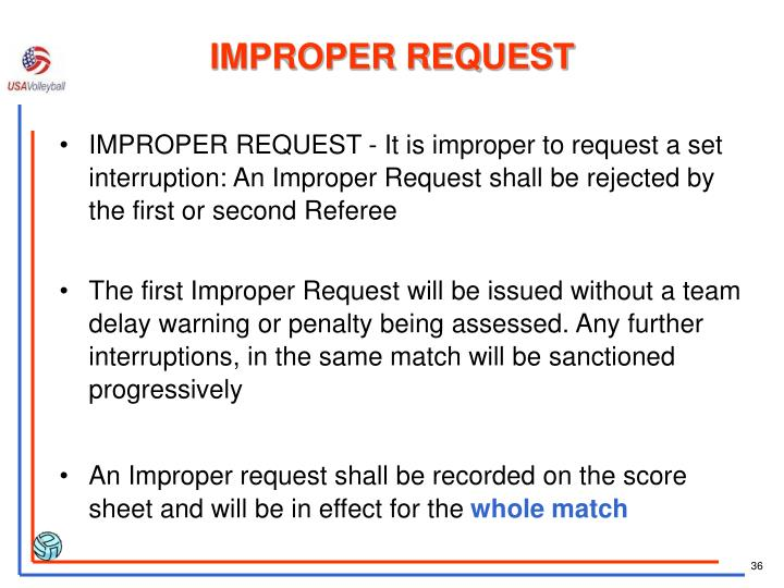 IMPROPER REQUEST