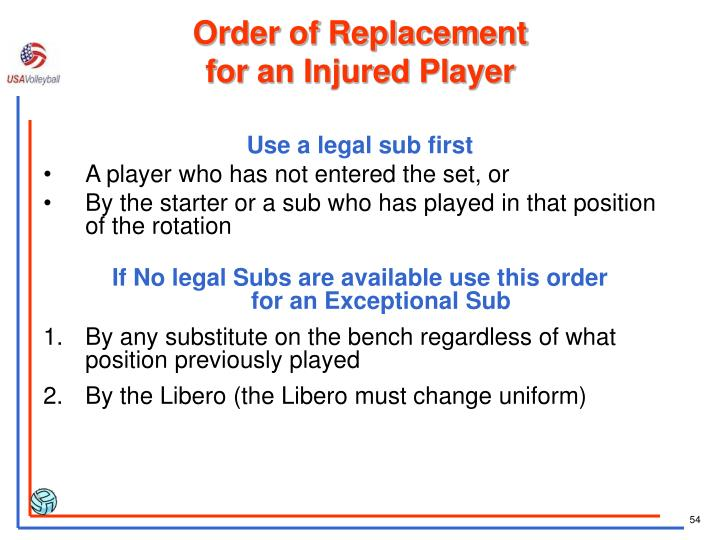 Order of Replacement
