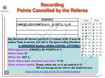 recording points cancelled by the referee