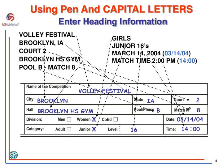 Using Pen And CAPITAL LETTERS
