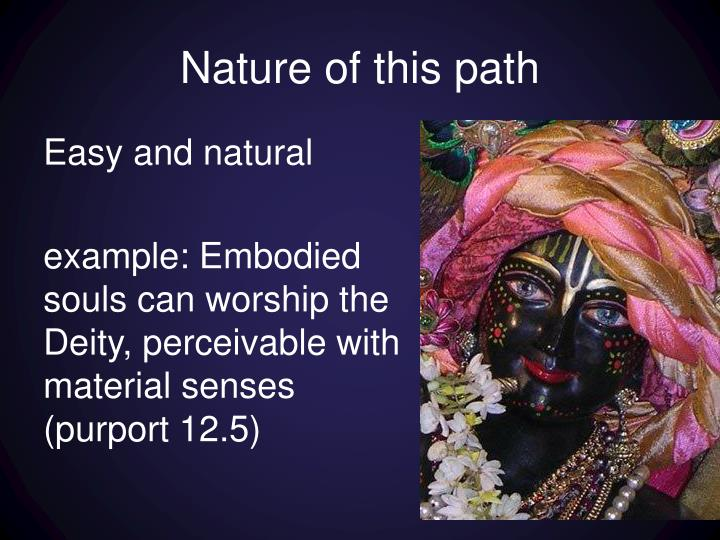 Nature of this path