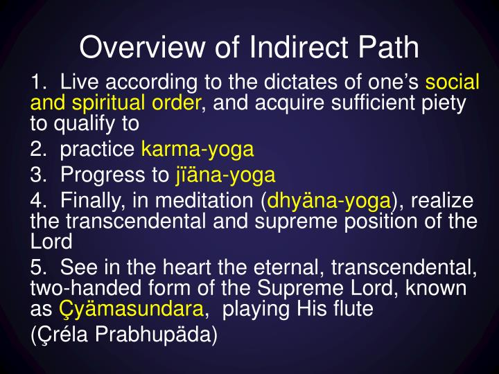 Overview of Indirect Path