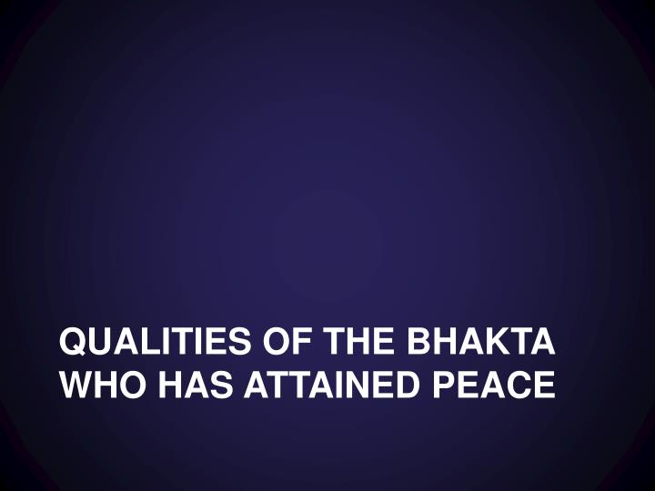 Qualities of the