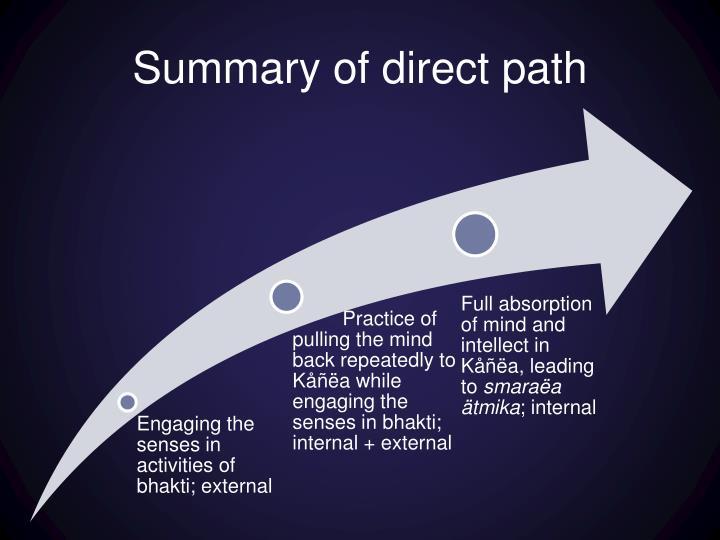 Summary of direct path