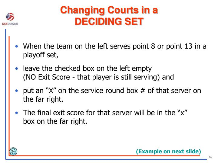 Changing Courts in a