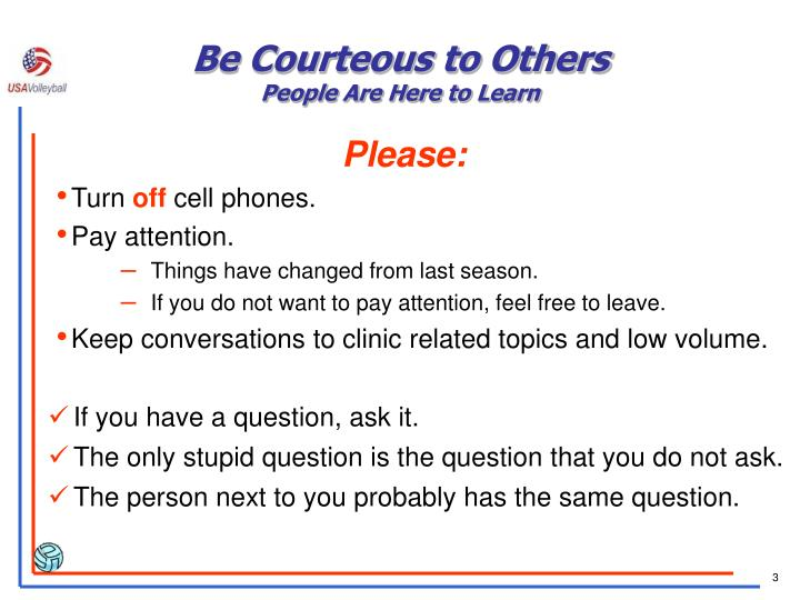 Be Courteous to Others
