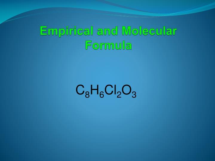 Empirical and