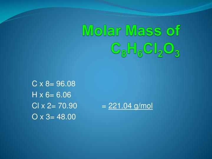 Molar Mass of
