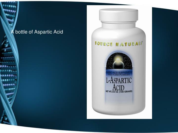 A bottle of Aspartic Acid
