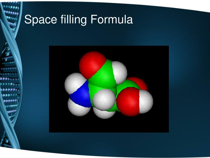 Space filling Formula
