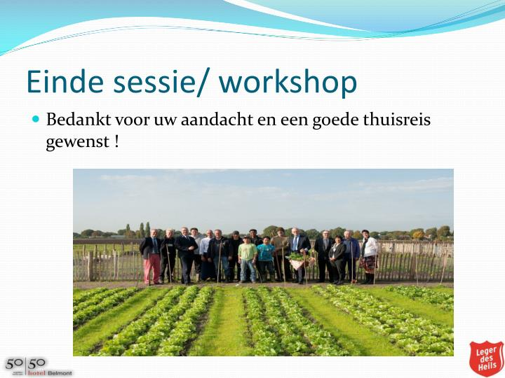 Einde sessie/ workshop