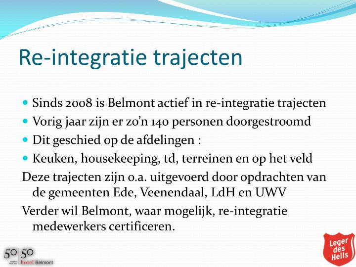 Re-integratie trajecten