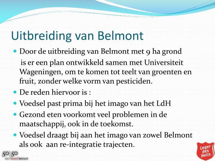 Uitbreiding van Belmont