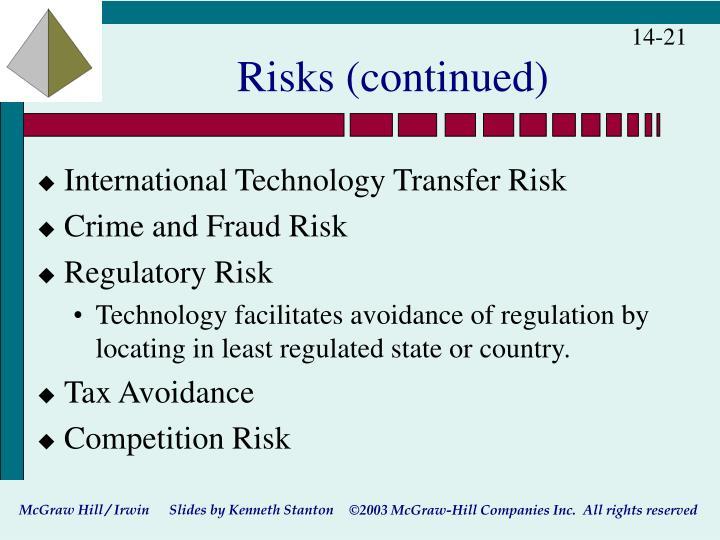 Risks (continued)