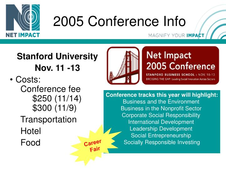 2005 Conference Info