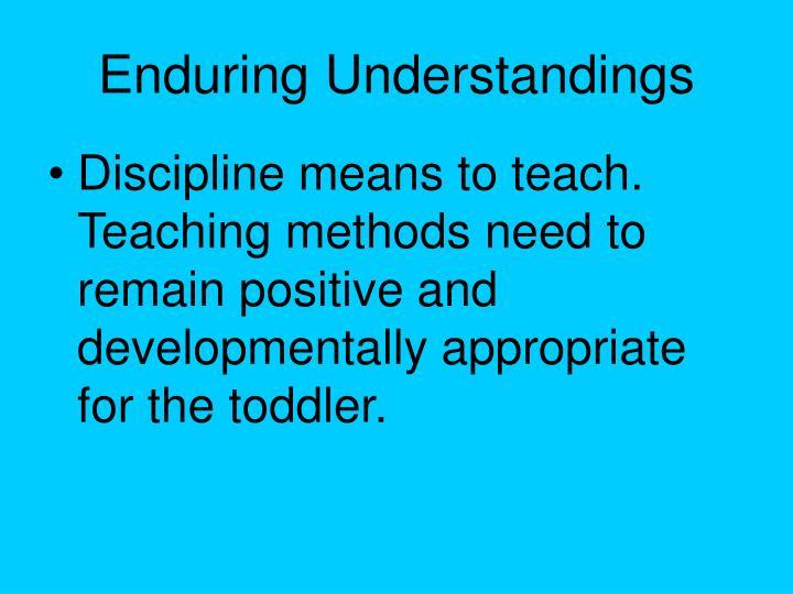 Enduring Understandings