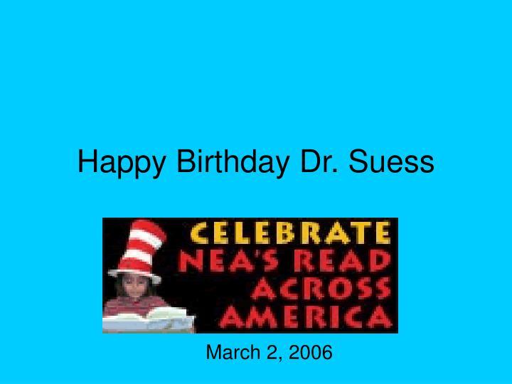 Happy Birthday Dr. Suess